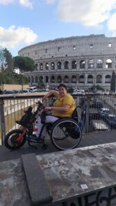 Colosseum in Rome traveller with reduced mobility